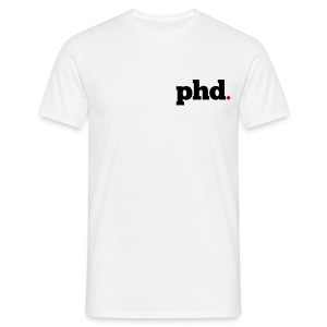 PHD Logo t-shirt (white) - Men's T-Shirt