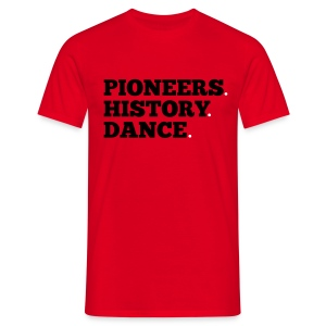 Pioneers History Dance t-shirt (red) - Men's T-Shirt