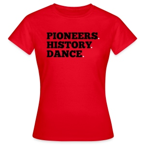 Pioneers History Dance t-shirt (red) - Women's T-Shirt