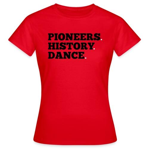 Pioneers History Dance t-shirt (red) - Women's T-Shirt