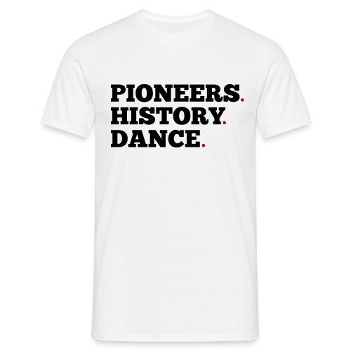Pioneers History Dance t-shirt (white) - Men's T-Shirt