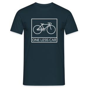 One Less Car - Men's T-Shirt
