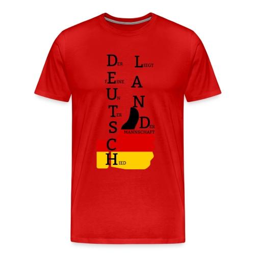 Männer Premium T-Shirt Flagge mit Daumen Deutschland Europameister 2016 Rot - Männer Premium T-Shirt