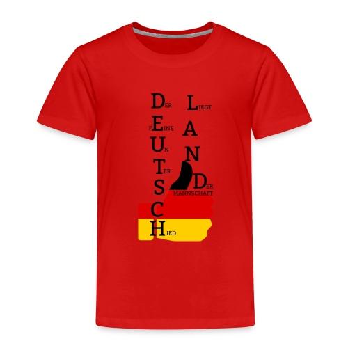 Kinder Premium T-Shirt Flagge mit Daumen Deutschland Europameister 2016 Rot - Kinder Premium T-Shirt