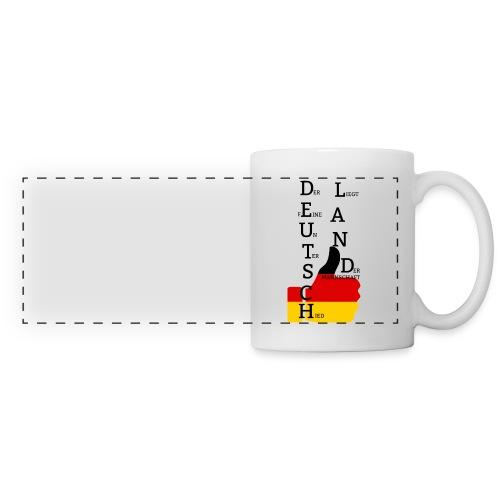 Panoramatasse Flagge mit Daumen Deutschland Europameister 2016 Weiß - Panoramatasse
