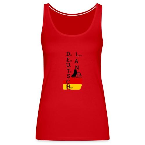 Frauen Premium Tank Top Flagge mit Daumen Deutschland Europameister 2016 Rot - Frauen Premium Tank Top