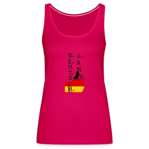 Frauen Premium Tank Top Flagge mit Daumen Deutschland Europameister 2016 dunkles Pink - Frauen Premium Tank Top
