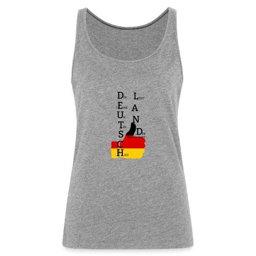 Frauen Premium Tank Top Flagge mit Daumen Deutschland Europameister 2016 Grau meliert - Frauen Premium Tank Top