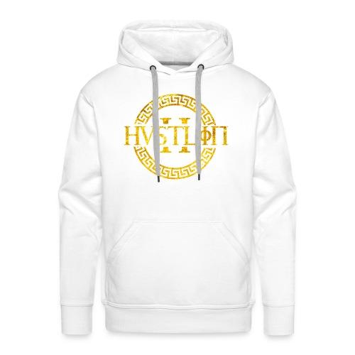 Hustlin Hoodie - Weiß - Männer - Männer Premium Hoodie