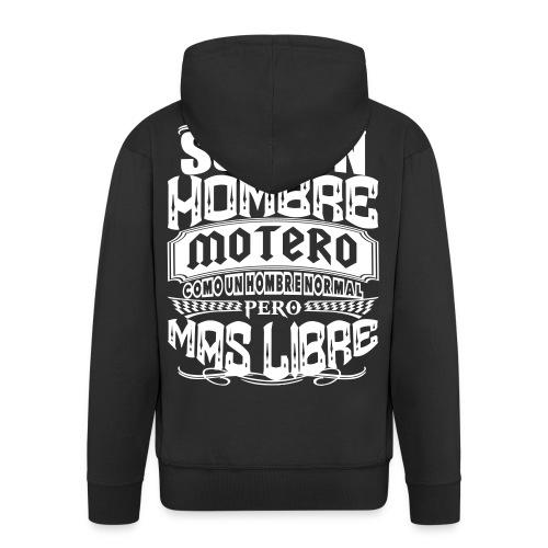 Soy un hombre motero - Chaqueta con capucha premium hombre