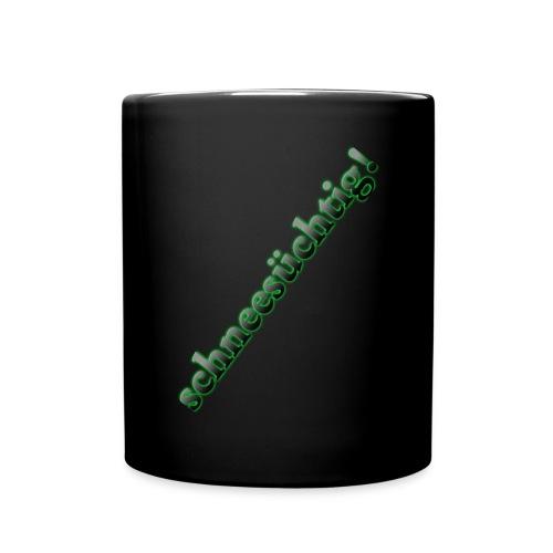 Tasse Schneesüchtig - Tasse einfarbig