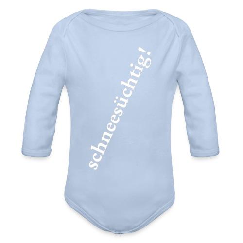Baby Langarm-Body Schneesüchtig - Baby Bio-Langarm-Body
