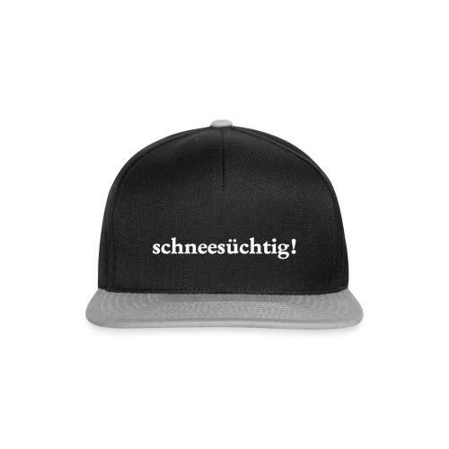 Kappe Schneesüchtig Schwarz Grau - Snapback Cap