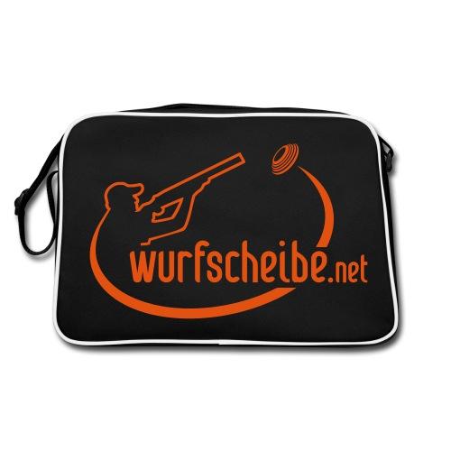 Umhängetasche Logo komplett - wurfscheibe.net - Retro Tasche
