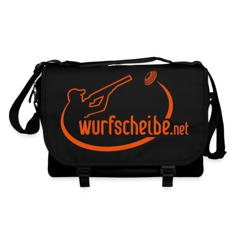Umhängetasche Logo komplett - wurfscheibe.net - Umhängetasche