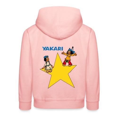 Yakari et Arc-en-ciel Pull à Capuche Enfant - Kinder Premium Hoodie