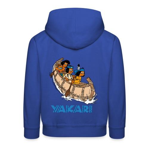 Yakari et ses amis en canoë Pull à Capuche Enfant - Kinder Premium Hoodie