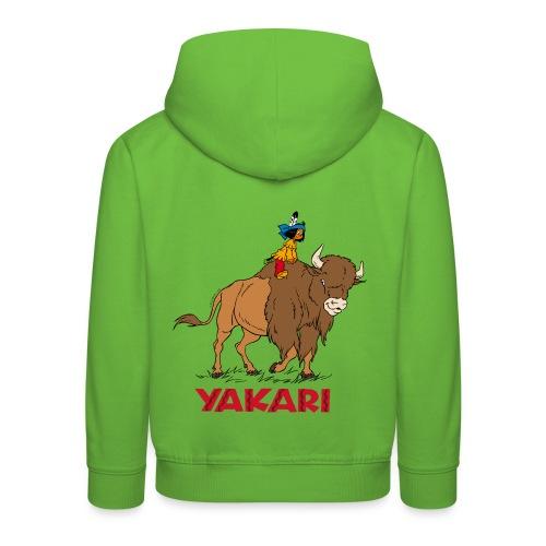 Yakari avec Bison Pull à Capuche Enfant - Kinder Premium Hoodie