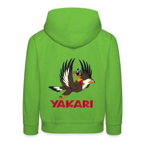Yakari avec Grand-Aigle Pull à Capuche Enfant - Kinder Premium Hoodie