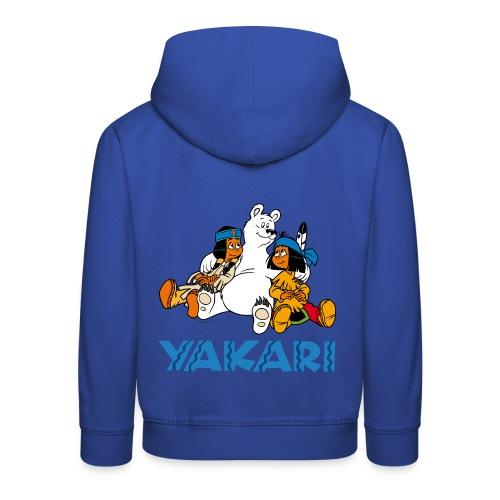 Yakari avec Boule-de-Neige Pull à Capuche Enfant - Kinder Premium Hoodie