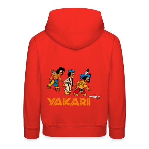 Yakari avec les amis Pull à Capuche Enfant - Kinder Premium Hoodie