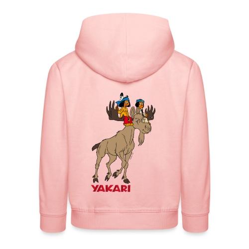 Yakari avec élan Pull à Capuche Enfant - Kinder Premium Hoodie