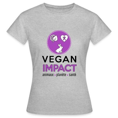 Tee shirt gris Vegan impact Femme - T-shirt Femme