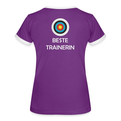 Frauen Kontrast-T-Shirt - Beste Trainerin - Frauen Kontrast-T-Shirt