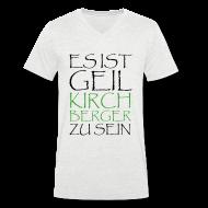 T-Shirts ~ Männer T-Shirt mit V-Ausschnitt ~ Kirchberger Männer T-Shirt Geil