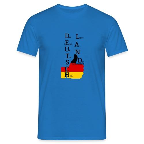 Männer T-Shirt Flagge mit Daumen Deutschland Europameister 2016 Royalblau - Männer T-Shirt