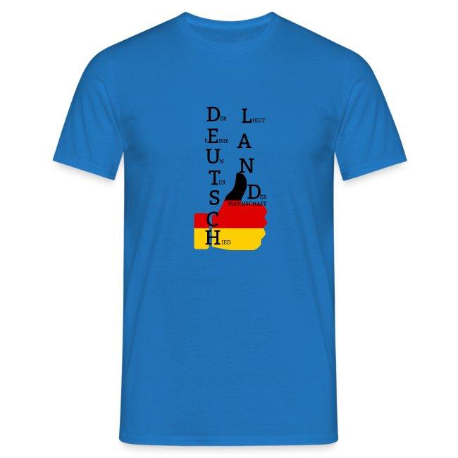 """Männer T-Shirt """"Flagge mit Daumen"""" Deutschland Europameister 2016 Royalblau"""