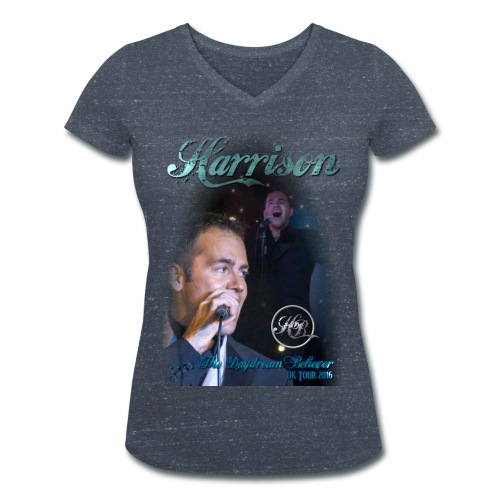 Harrison Daydream Believer Mens V neck T - Women's Organic V-Neck T-Shirt by Stanley & Stella
