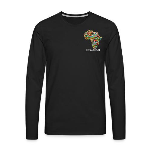 Black sweatshirt with small Africaismylife logo - Men's Premium Longsleeve Shirt