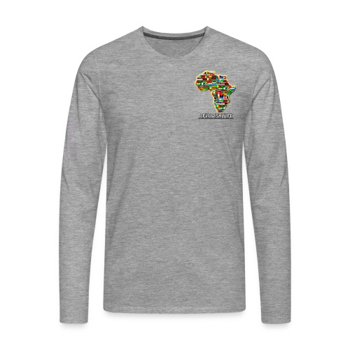 Light grey sweatshirt with small Africaismylife logo - Men's Premium Longsleeve Shirt