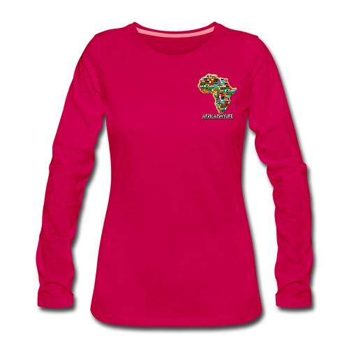 Pink sweatshirt with small Africaismylife logo - Women's Premium Longsleeve Shirt