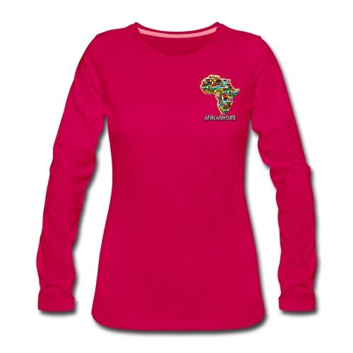 Pink sweatshirt with small Africaismylife logo - Women's Premium Longsleeve Shirt