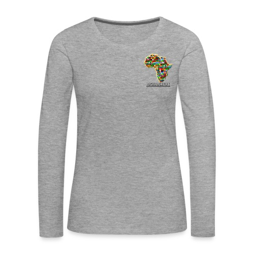 Light Grey sweatshirt with small Africaismylife logo - Women's Premium Longsleeve Shirt