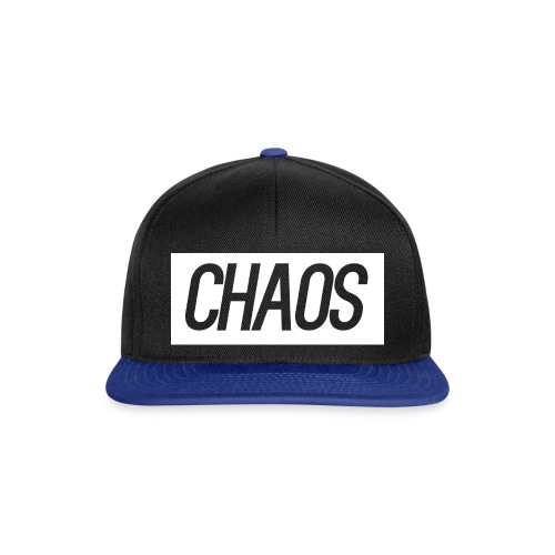 CHAOS Black and Blue Snap Back Cap - Snapback Cap
