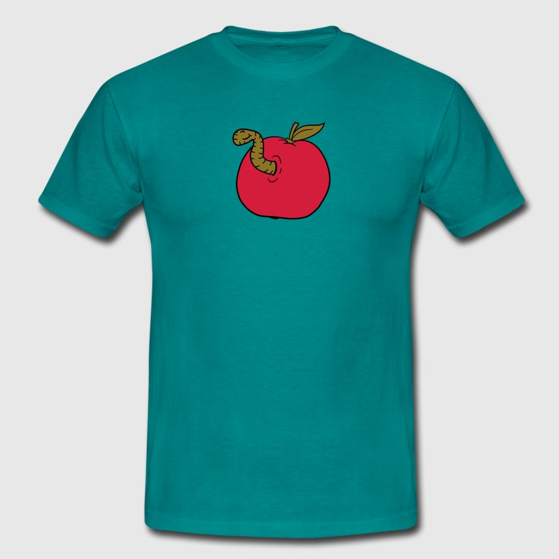 apple worm sweet disgusting hole larva caterpillar T-Shirts - Men's T-Shirt