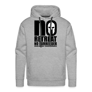 No Retreat, No Surrender Calisthenics Cube-Logo - Men's Premium Hoodie