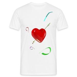Camiseta clasica hombre heart pierced - Camiseta hombre