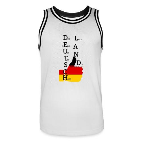 Männer Basketball-Trikot Flagge mit Daumen Deutschland Europameister 2016 Weiß - Männer Basketball-Trikot
