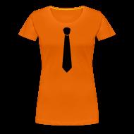 T-shirts ~ Vrouwen Premium T-shirt ~ Dames shirt met stropdas.. sexy!