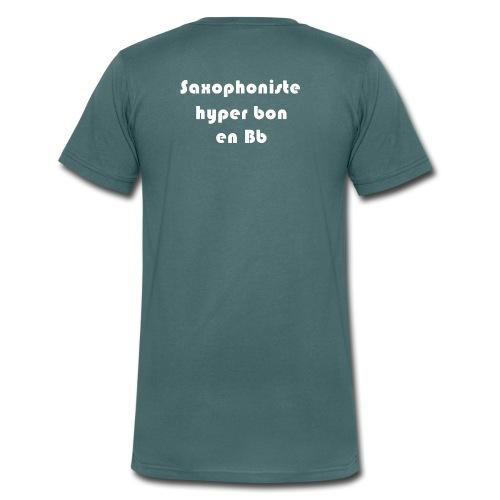Saxophoniste - T-shirt bio col V Stanley & Stella Homme