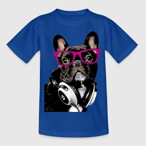 AD Hipster Frenchie T-shirts - Børne-T-shirt
