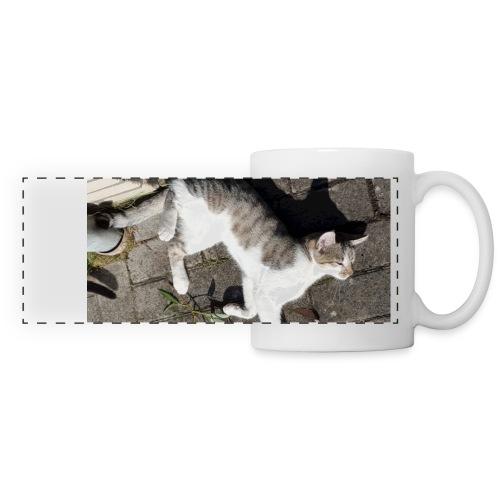 Panorama Tasse mit Katzenfoto - Panoramatasse