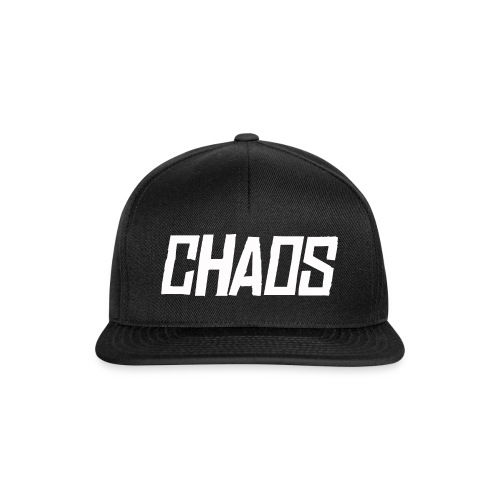 CHAOS Black Snap Back Cap - Snapback Cap