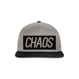 CHAOS Black and Gray Snap Back Cap - Snapback Cap
