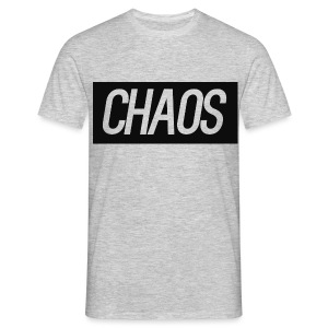 CHAOS Box Logo Gray Shirt - Men's T-Shirt