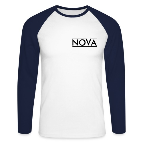 Nova Blue Men's Long Sleeve Baseball T-Shirt - Men's Long Sleeve Baseball T-Shirt